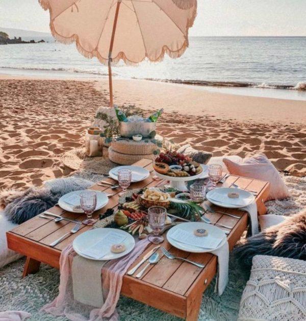 Beach, Picnic, BBQ, Bohemian, Dinner, Brunch, Lunch, Beachsetup